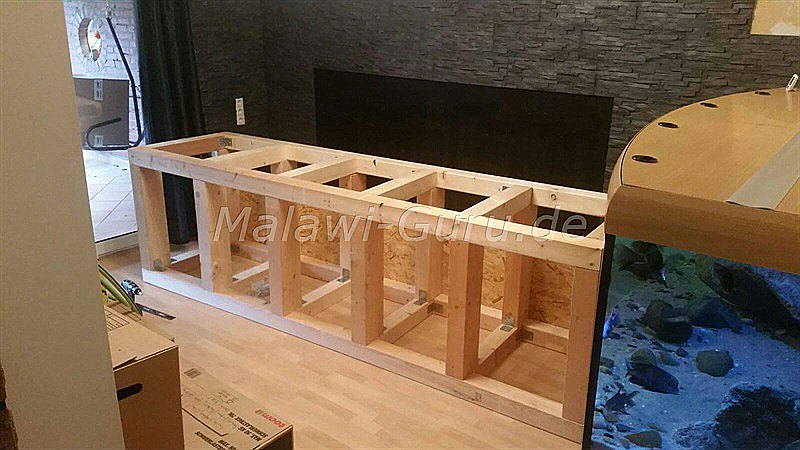 malawi unterbau konstruktion f r das aquarium. Black Bedroom Furniture Sets. Home Design Ideas